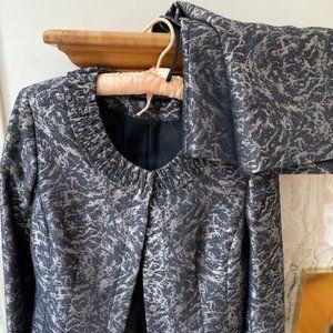 Silver Brocade Evening Suit
